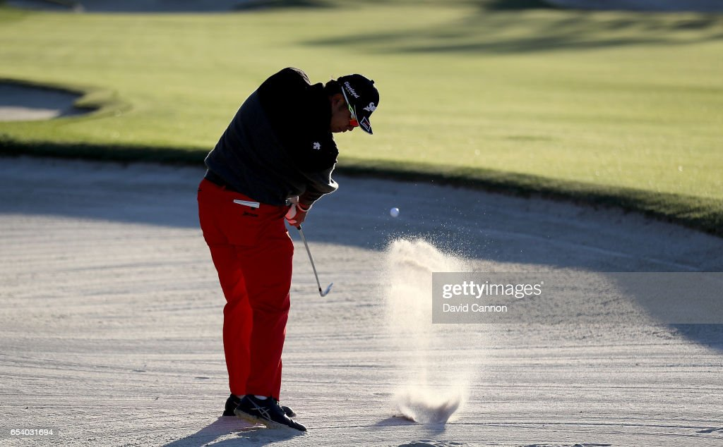 Hideki Matsuyama of Japan plays his second shot on the par 4, 10th hole during the first round of the 2017 Arnold Palmer Invitational presented by MasterCard on March 16, 2017 in Orlando, Florida.