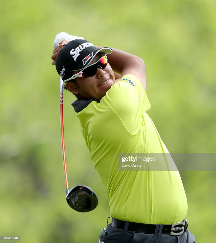 Hideki Matsuyama of Japan plays his tee shot on the par 4, third hole in his match against Jordan Spieth of the united States during the first round of the 2017 Dell Match Play at Austin Country Club on March 22, 2017 in Austin, Texas.
