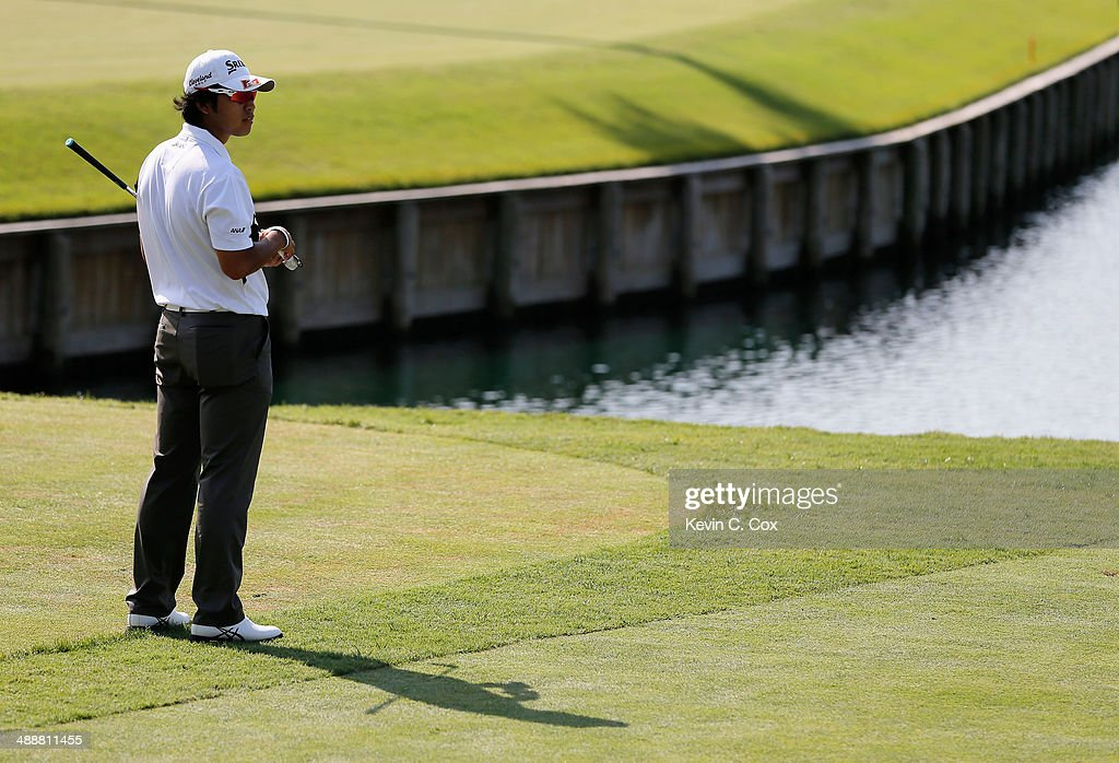 Hideki Matsuyama of Japan waits on the 17th tee during the first round of THE PLAYERS Championship on The Stadium Course at TPC Sawgrass on May 8, 2014 in Ponte Vedra Beach, Florida.