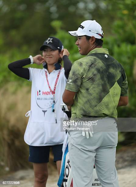 Hideki Matsuyaya of Japan smiles on the putting green during round two of the Hero World Challenge at Albany The Bahamas on December 2 2016 in Nassau...