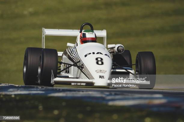 Hideki Noda of Japan drives the Alan Docking Racing Ralt RT34 Mugen Honda during the British Formula 3 Championship race on 29 April 1990 at the...