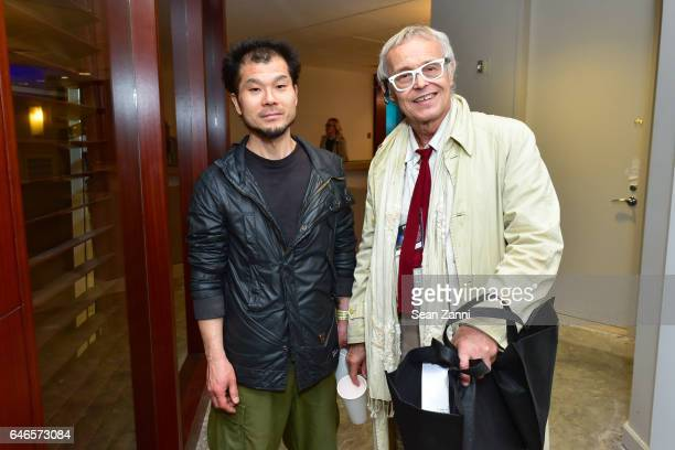 Hideki Takashi and Bernd Naber attend Spring Break Art Fair 2017 Vernissage at 4 Times Square on February 28 2017 in New York City