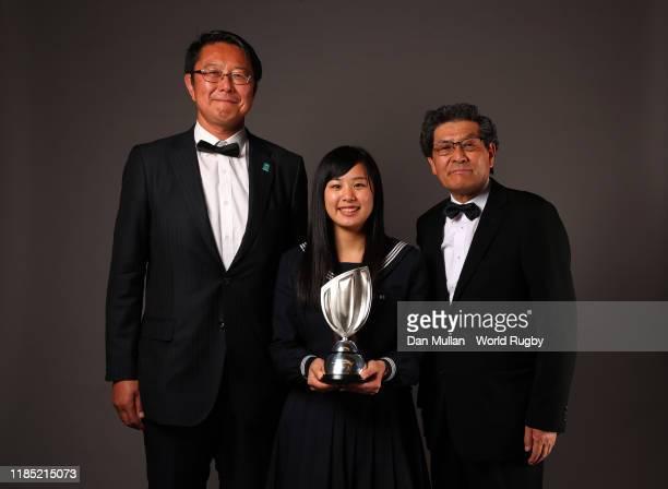 Hideki Yamazaki Rui Horaguchi and Yoshihiko Sakuraba represent the town of Kamaishi winners of the Award for Character in association with Land Rover...