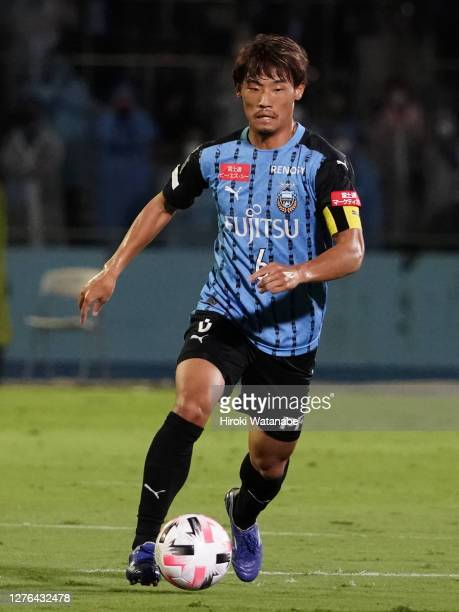 Hidemasa Morita of Kawasaki Frontale in action during the J.League Meiji Yasuda J1 match between Kawasaki Frontale and Yokohama FC at Todoroki...