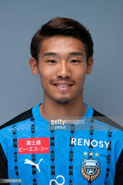 Hidemasa Morita poses for photographs during the Kawasaki Frontale portrait session on February 3, 2020 in Japan.