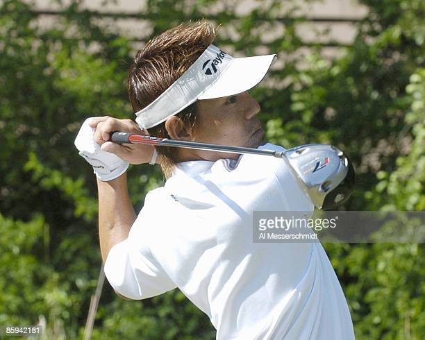 Hidemichi Tanaka drives from the second tee during the final round of the 2005 Chrysler Championship at the Westin Innsbrook Resort Copperhead Course...