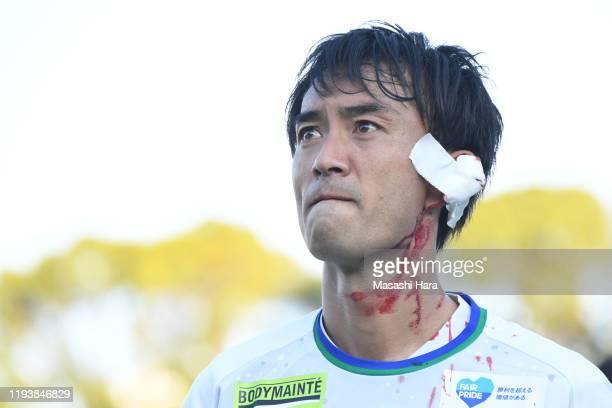 Hidenori Ishii of Tokushima Vortis reacts after the J.League J1/J2 Play-Off Final between Shonan Bellmare and Tokushima Vortis at Shonan BMW Stadium...