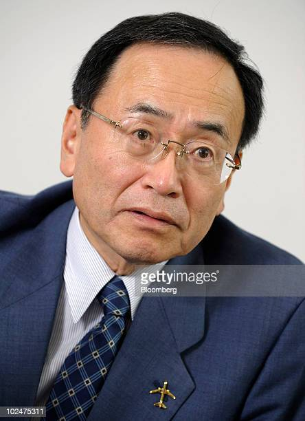 Hideo Egawa president of Mitsubishi Aircraft Corp speaks during an interview in Tokyo Japan on Friday June 25 2010 Mitsubishi Aircraft Corp the maker...