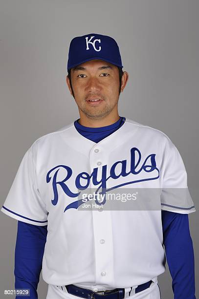 Hideo Nomo of the Kansas City Royals poses for a portrait during photo day at Surprise Stadium on February 25 2008 in Surprise Arizona