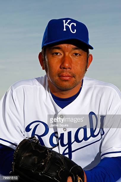 Hideo Nomo of the Kansas City Royals poses for a portrait during spring training on February 25 2008 at Suprise Stadium in Surprise Arizona