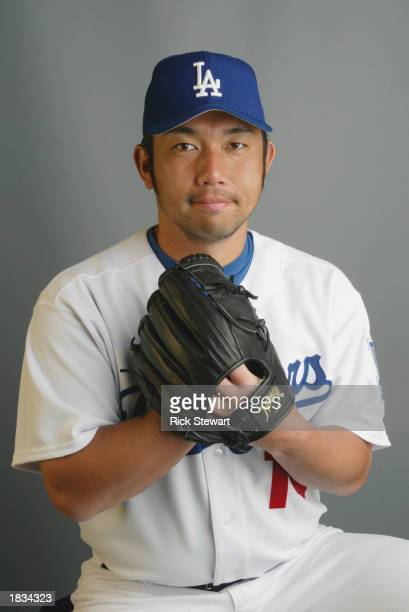 Hideo Nomo of the Los Angeles Dodgers poses during Media Day on February 20, 2003 at Dodgertown in Vero Beach, Florida.