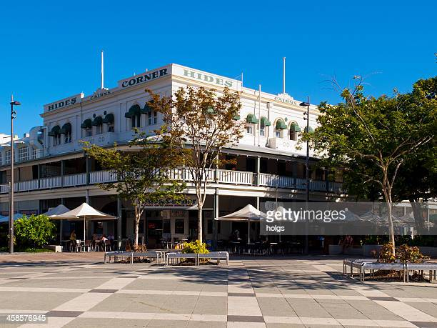 hides corner building in central cairns city, queensland - cairns stock photos and pictures