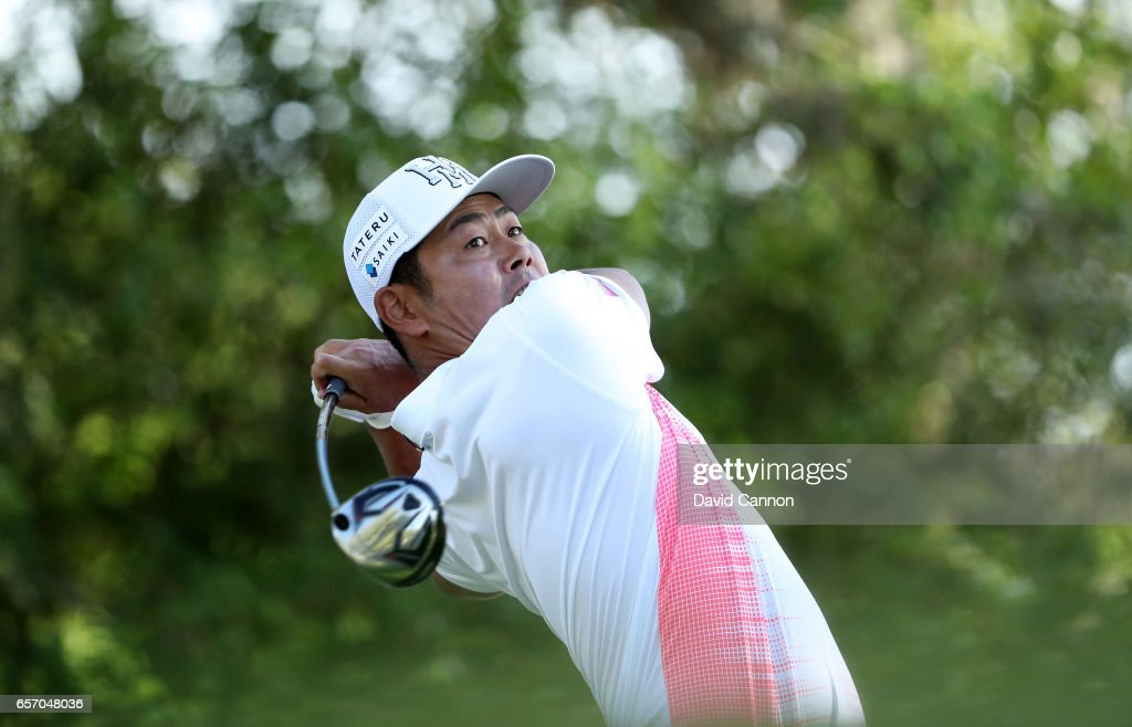 Hideto Tanihara of Japan plays his tee shot on the par 5, 12th hole in his match against Ryan Moore during the second round of the 2017 Dell Match Play at Austin Country Club on March 23, 2017 in Austin, Texas.