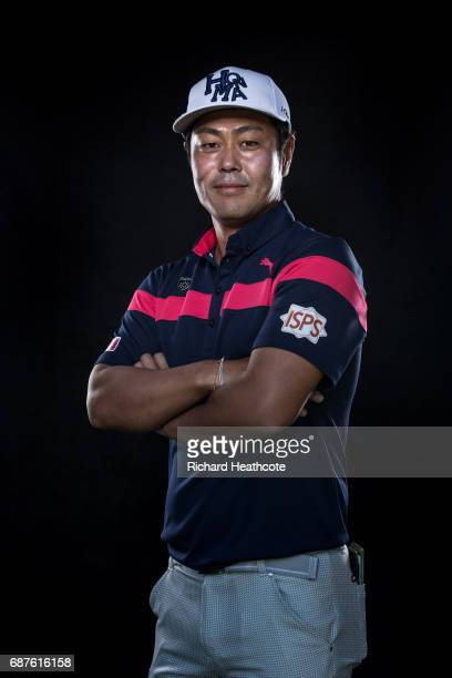 Hideto Tanihara of Japan poses for a portrait during the BMW PGA Championship ProAM at Wentworth on May 24 2017 in Virginia Water England