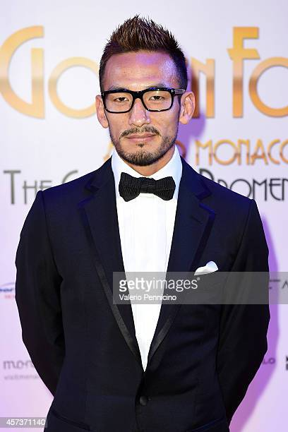 Hidetoshi Nakata attends during the Golden Foot Award 2014 ceremony at Sporting Club on October 13 2014 in MonteCarlo Monaco