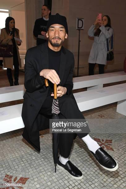 Hidetoshi Nakata attends the Giambattista Valli show as part of the Paris Fashion Week Womenswear Fall/Winter 2020/2021 on March 02 2020 in Paris...