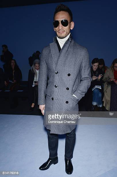 Hidetoshi Nakata attends the Giambattista Valli show as part of the Paris Fashion Week Womenswear Fall/Winter 2016/2017 on March 7 2016 in Paris...