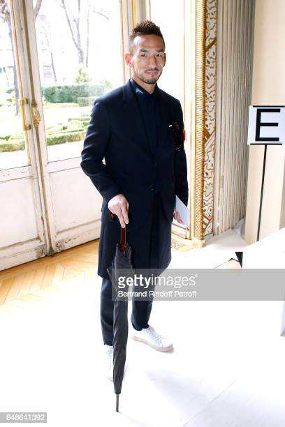 Hidetoshi Nakata attends the Giambattista Valli show as part of the Paris Fashion Week Womenswear Fall/Winter 2017/2018 on March 6 2017 in Paris...