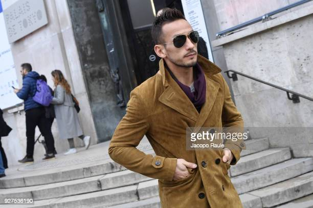 Hidetoshi Nakata attends the Giambattista Valli show as part of the Paris Fashion Week Womenswear Fall/Winter 2018/2019 on March 5 2018 in Paris...