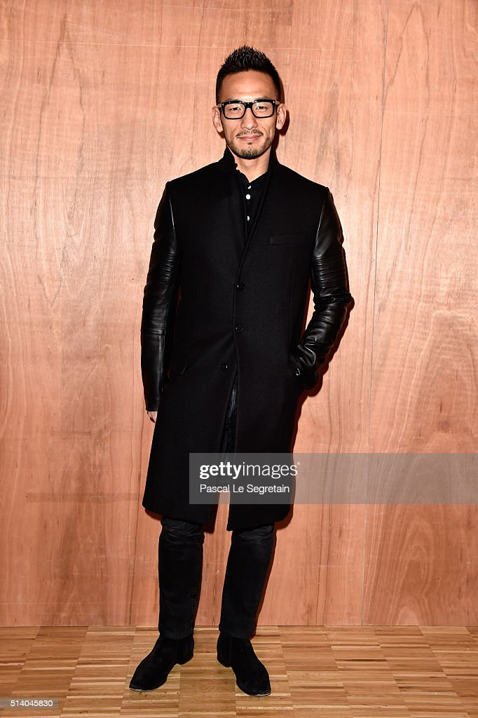 Hidetoshi Nakata attends the Givenchy show as part of the Paris Fashion Week Womenswear Fall/Winter 2016/2017 on March 6, 2016 in Paris, France.