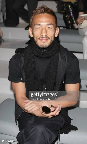Hidetoshi Nakata attends the Gucci show as part of Milan Womenswear Fashion Week Spring/Summer 2010 at on September 26 2009 in Milan Italy