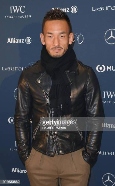 Hidetoshi Nakata attends the Laureus Academy Welcome Reception prior to the 2018 Laureus World Sports Awards at the Yacht Club de Monaco on February...