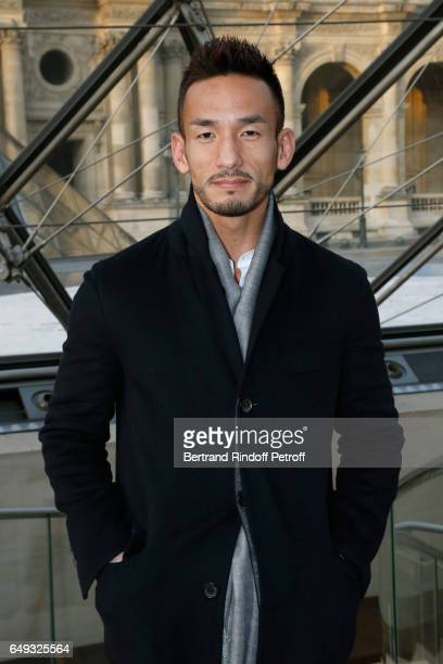 Hidetoshi Nakata attends the Louis Vuitton show as part of the Paris Fashion Week Womenswear Fall/Winter 2017/2018 on March 7 2017 in Paris France