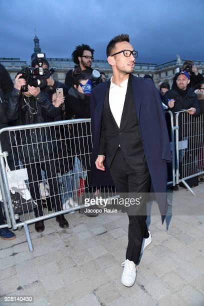 Hidetoshi Nakata attends the Louis Vuitton show as part of the Paris Fashion Week Womenswear Fall/Winter 2018/2019 on March 6 2018 in Paris France
