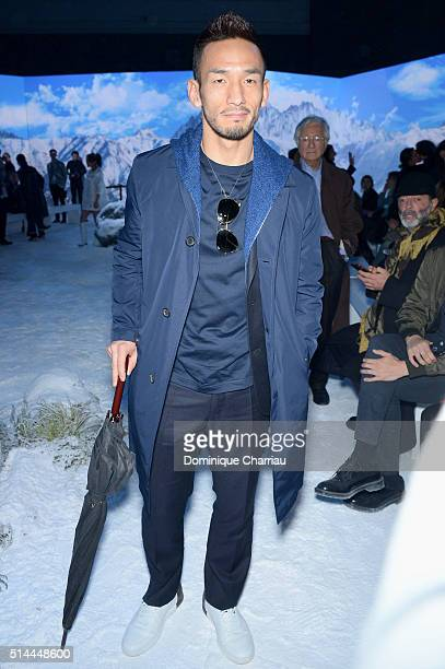 Hidetoshi Nakata attends the Moncler Gamme Rouge show as part of the Paris Fashion Week Womenswear Fall/Winter 2016/2017 on March 9 2016 in Paris...