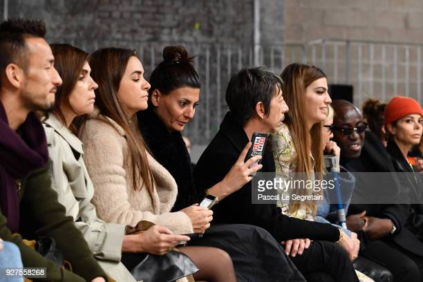 Hidetoshi Nakata Carine Roitfeld Laure Heriard DubreuilGiovanna Battaglia Pierpaolo Piccioli and Bianca Brandolini d'Adda attend the Giambattista...
