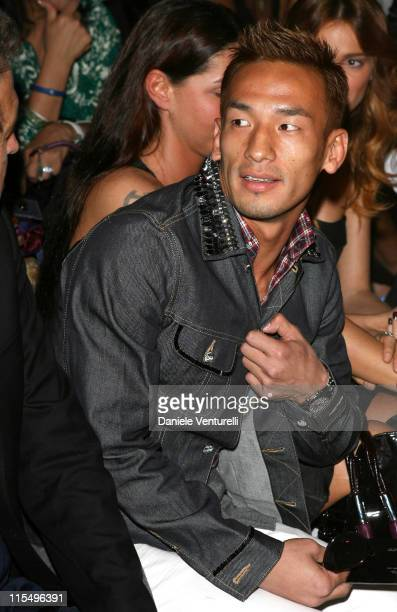 Hidetoshi Nakata during Milan Fashion Week Spring/Summer 2007 Versace Front Row at Piazza Vetra 1 in Milan Italy