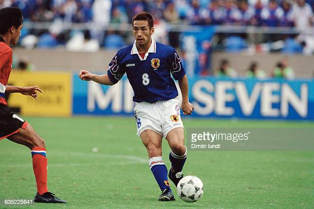 Hidetoshi Nakata in action during a qualifying match for the 1998 FIFA World Cup against South Korea. Korea won 2-1.