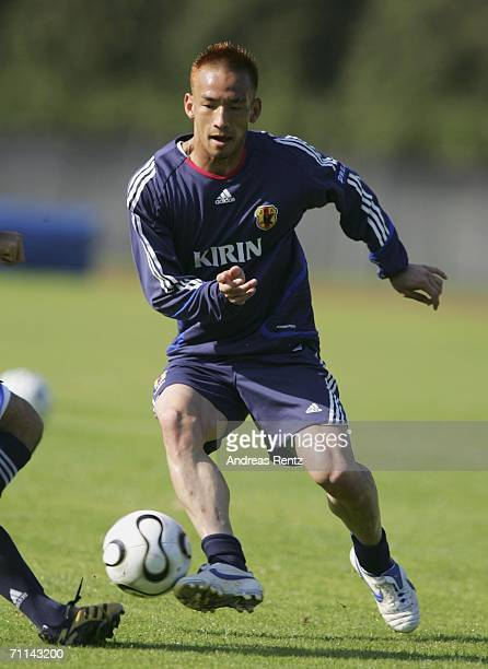 Hidetoshi Nakata in action during the training session of Japan National Football Team on June 7 2006 in Bonn Germany Japan will compete in the FIFA...