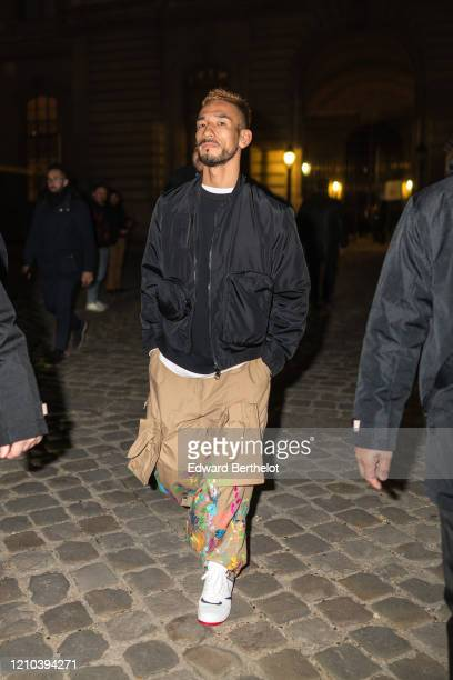 Hidetoshi Nakata is seen outside the Vuitton show during Paris Fashion Week Womenswear Fall/Winter 2020/2021 on March 03 2020 in Paris France