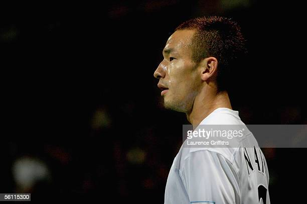 Hidetoshi Nakata of Bolton during the Barclays Premiership match between Bolton Wanderers and Tottenham Hotspur on November 7 2005 at The Reebok...
