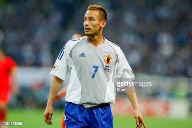 Hidetoshi Nakata of Japan during the World Cup match between Japan and Belgium in Saitama Stadium in Saitama Japan on June 4th 2002