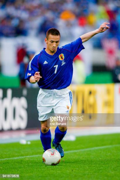 Hidetoshi Nakata of Japan during the world cup match between Japan and Turkey at Miyagi Stadium in Rifu Japan on june 18th 2002