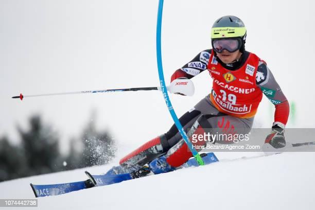 Hideyuki Narita of Japan competes during the Audi FIS Alpine Ski World Cup Men's Slalom on December 20 2018 in Saalbach Austria