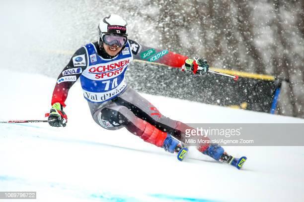 Hideyuki Narita of Japan during the Audi FIS Alpine Ski World Cup Men's Giant Slalom on December 8, 2018 in Val d'Isère France.