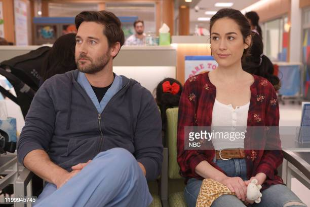 "Hiding Behind My Smile"" Episode 211 -- Pictured: Ryan Eggold as Dr. Max Goodwin, Alison Luff as Alice Healy --"