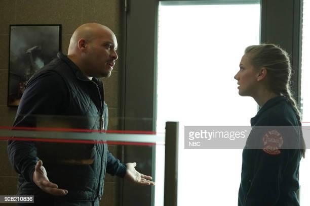 FIRE 'Hiding Not Seeking' Episode 613 Pictured Joe Minoso as Joe Cruz Kara Killmer as Sylvie Brett