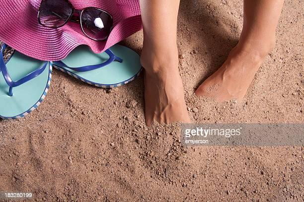 Cacher vos orteils dans le sable