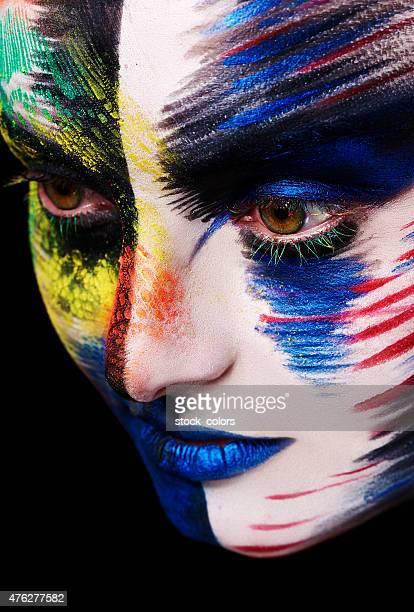 hiding under the makeup
