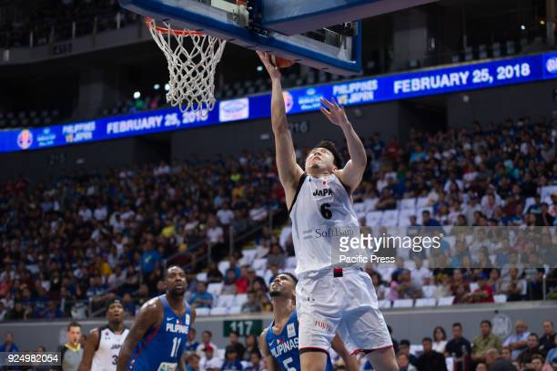 M Hiejima of Akatsuki Japan scores a layup and finished the game with 23 points 4 rebounds and dished out 2 assists