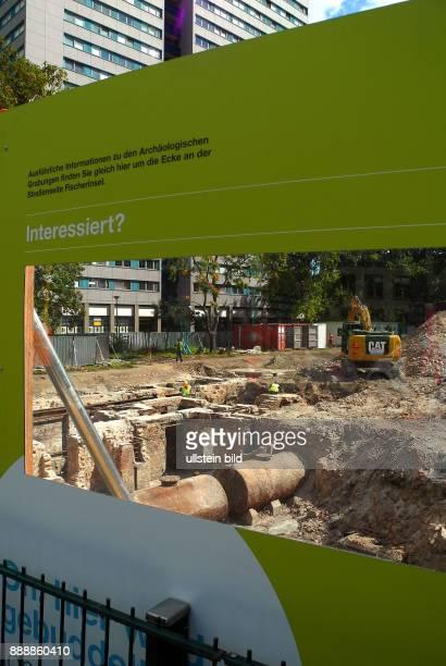 Hier auf der Fischerinsel plant die WBMMitte ein 19Geschosser an der Ecke Muehlendamm/Fischerinsel wo sich eine kleine Parkflaeche mit Baumbestand...