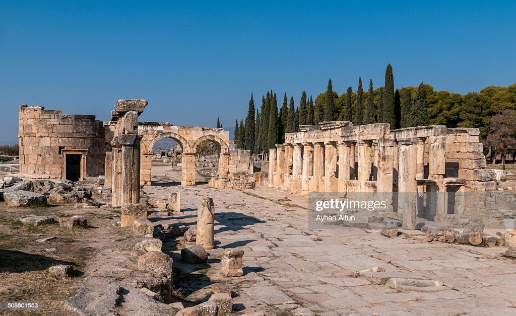 Hierapolis Antique city in Denizli : Foto de stock