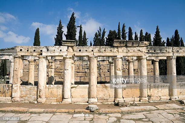 hierapolis, pamukkale, denizli/turkey - byzantine stock pictures, royalty-free photos & images