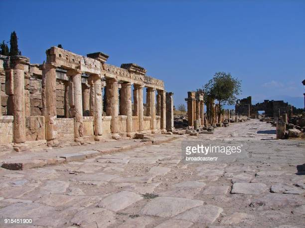 hierapolis, pamukkale - ancient greece photos stock pictures, royalty-free photos & images