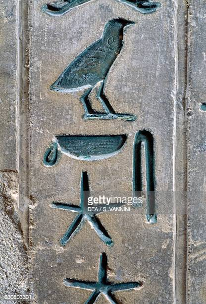 Hieroglyphs of the burial chamber pyramid of Pepi I necropolis of Saqqara Memphis Egypt Egyptian civilisation Old Kingdom Dynasty VI