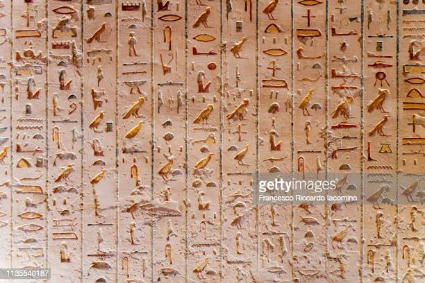 hieroglyphs - ancient civilization stock pictures, royalty-free photos & images